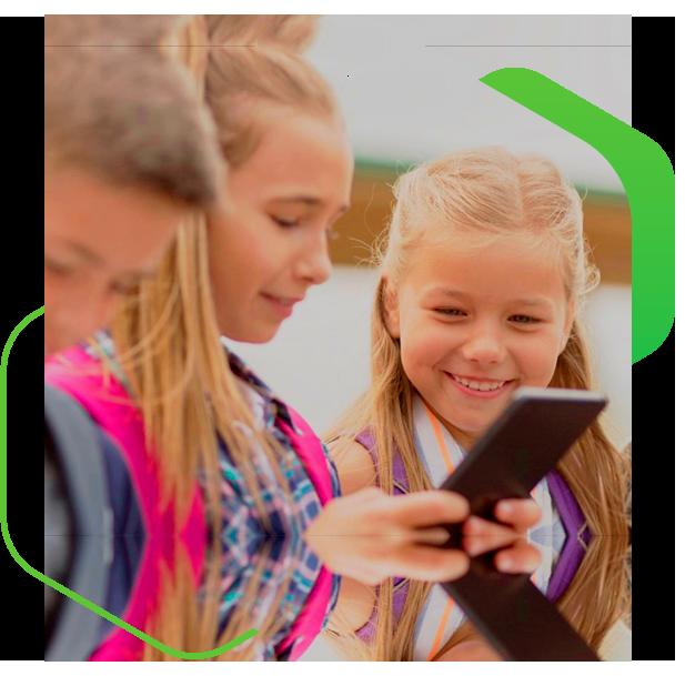 kids with phone